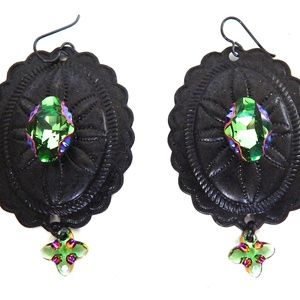 PONDEROSA THE QUICK & THE DEAD CONCHO EARRINGS